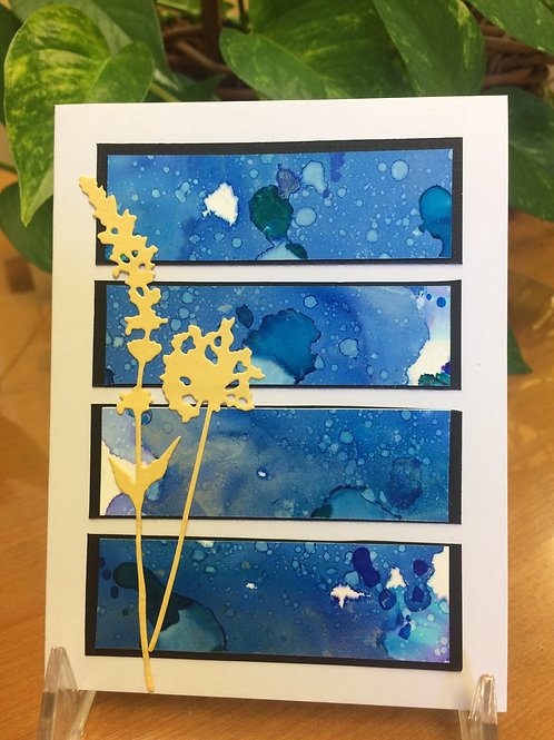 Wildflowers in the Winter Night Card