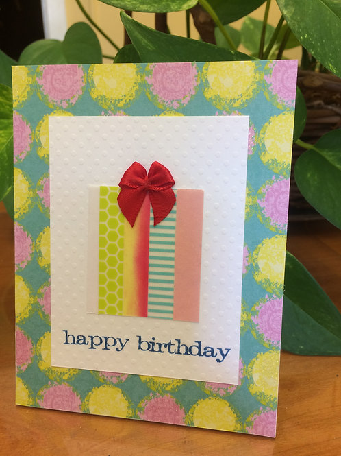 Happy Birthday Bow Card