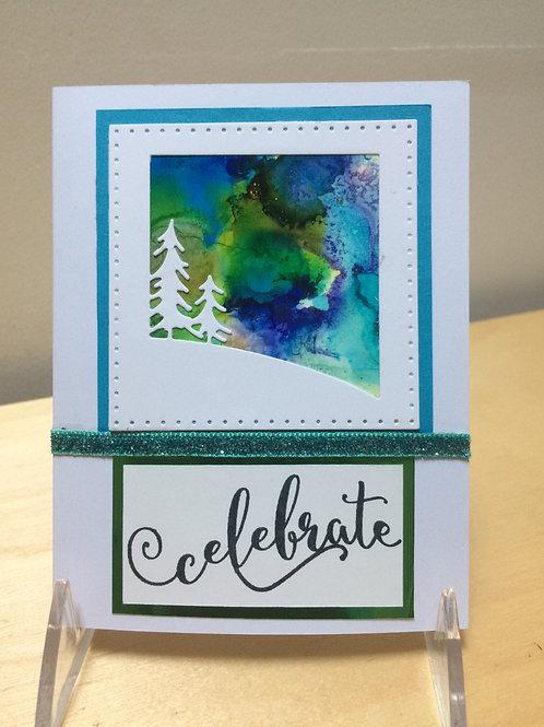 Celebrate Vivid Forest Card