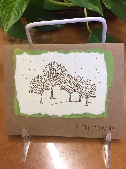 Forest Trees in the Snow Card