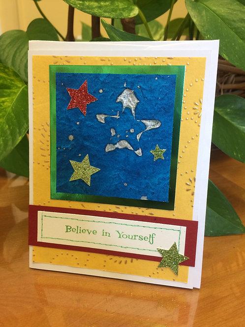 Stars in the Sky Believe Card