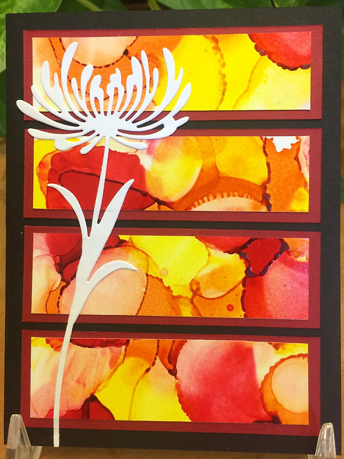 Wildflower Sunset Card