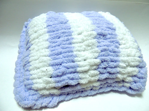 Mini Pillow - Purple and White