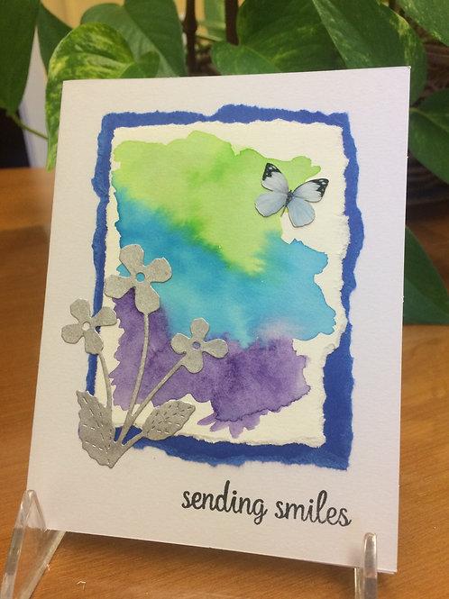 Sending Smiles Flowers Card