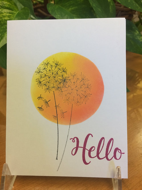 Dandelions Hello Card