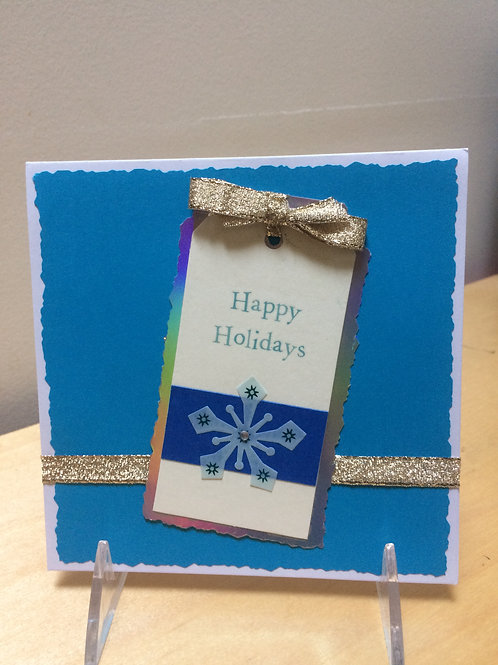 Happy Holidays Tag Card