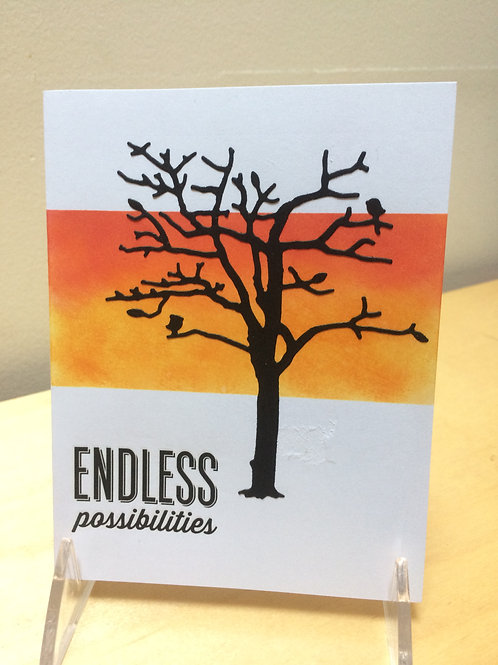 Endless Possibilities Sunset Card