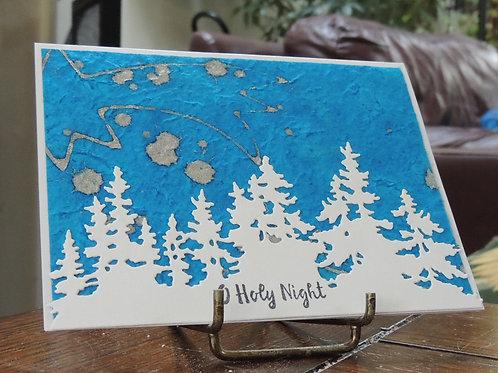 Christmas Trees Skyline Card
