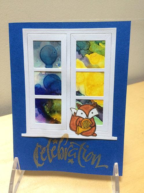 Celebration Window Card