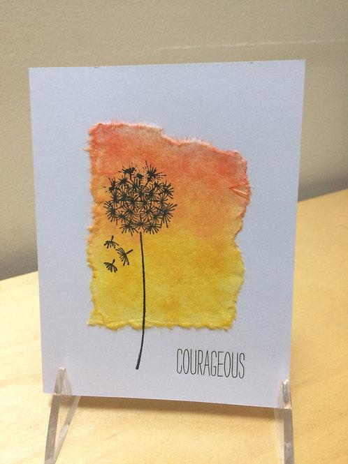 Courageous Dandelion Card