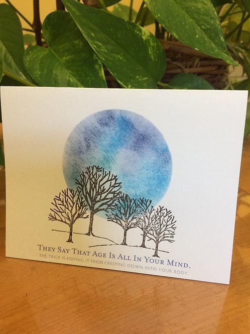 Moon Over Treetops Friendship Card