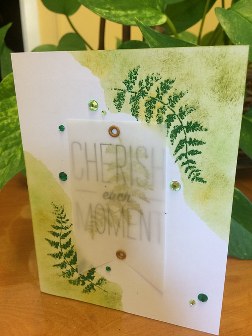 Cherish Each Moment Leaf Card