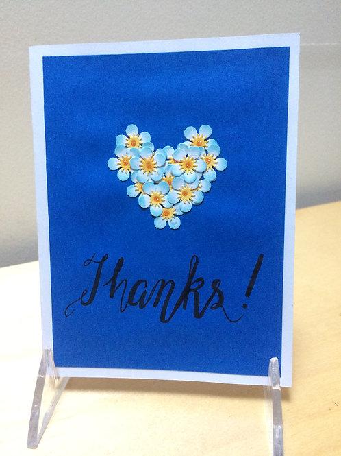 Flower Thanks Card