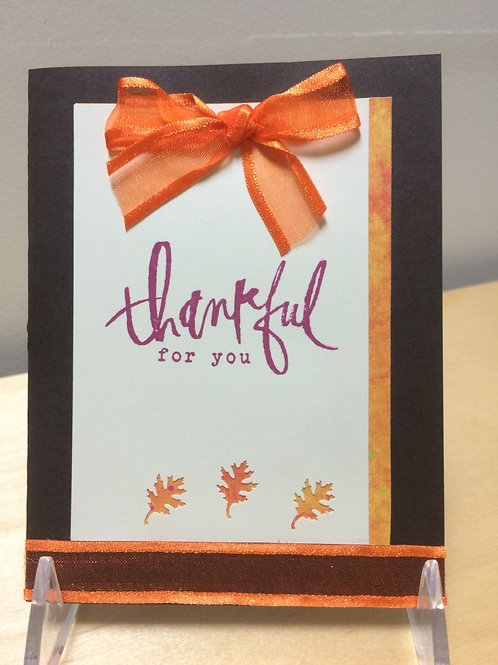 Thankful Bow Card