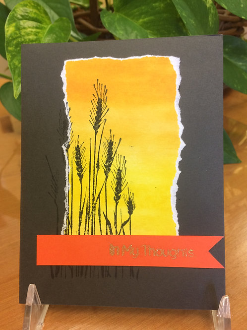 Wild Grasses in the Sunset Card