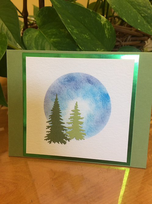 Moon in the Forest Card