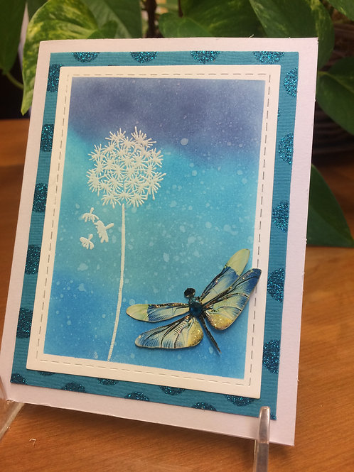 Dragonfly on the Dandelion Card