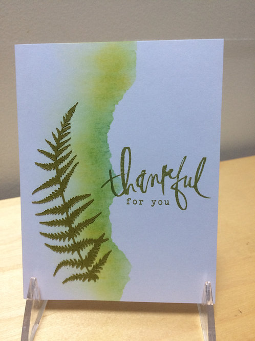 Thankful Fern Card