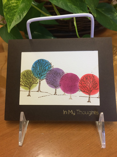 Bright Trees in the Forest Card