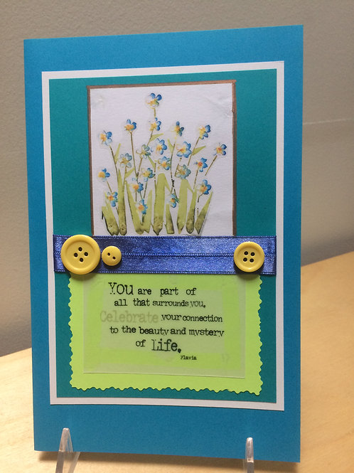 Wildflower Inspirational Card