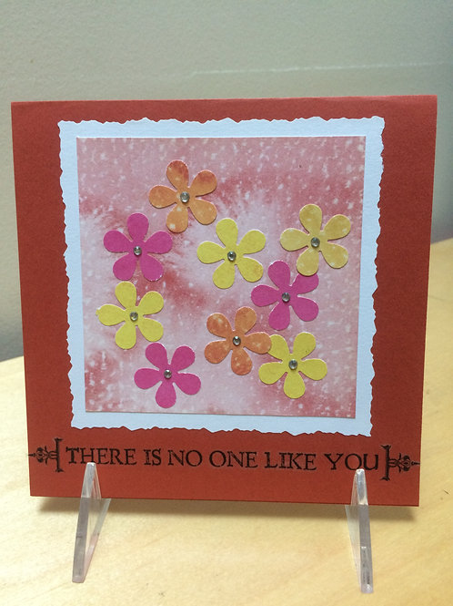 No One Alike Flowers Card