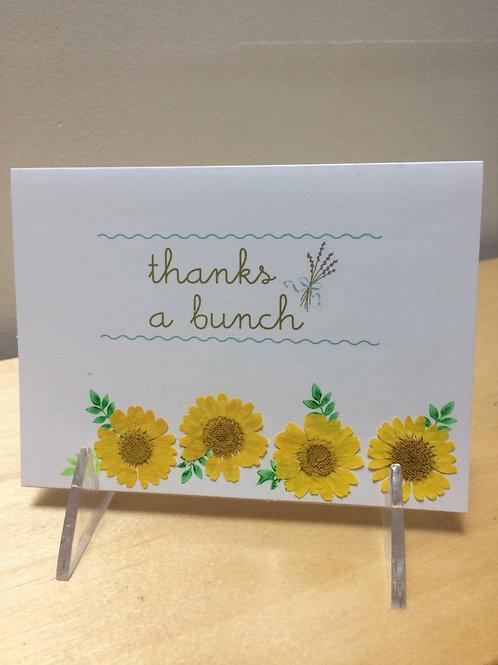 Thanks a Bunch Daisy Card