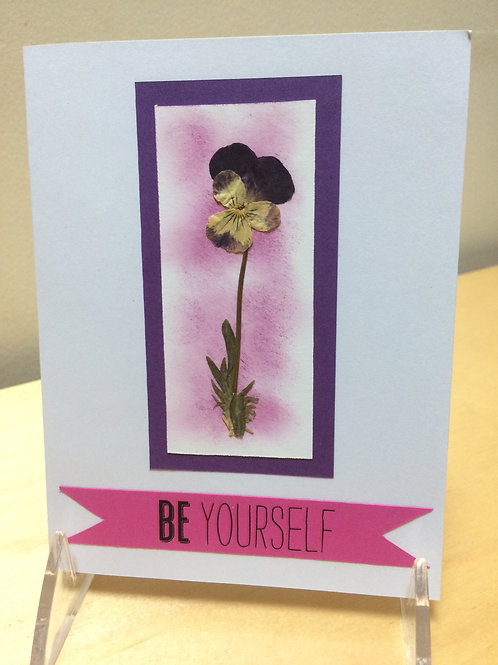 Be Yourself Viola Card