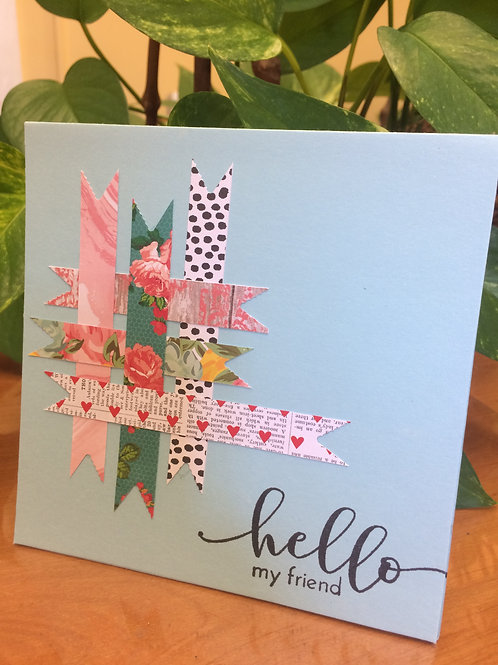 Patchwork Hello Card