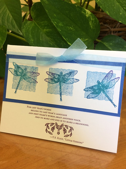 Dragonfly Inspirational Card