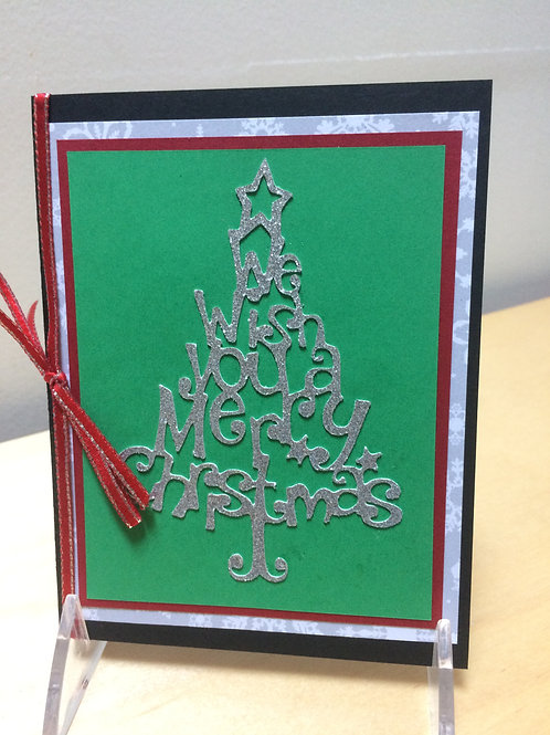 Silver Christmas Tree Card