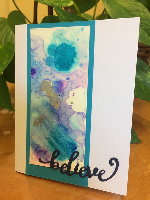 Abstract Believe Card