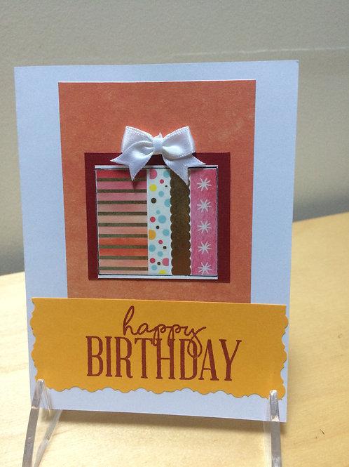 Happy Birthday Gift Box Card