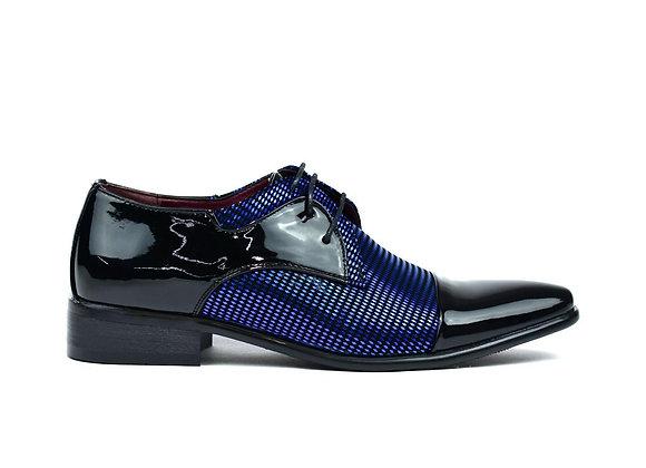 Men's Diamond Party Shoes Black/Blue