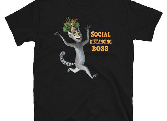 Social Distancing Boss Short-Sleeve Unisex T-Shirt