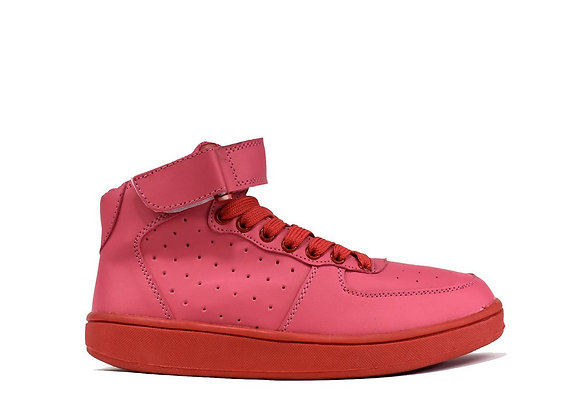 Block Pink Ankle Trainer Boot