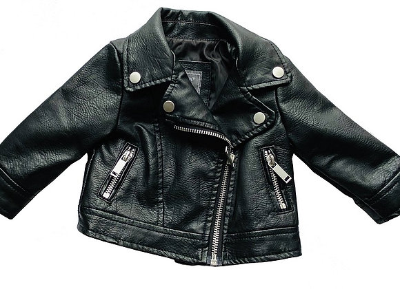 Baby Leather Jacket / 0-3 Months