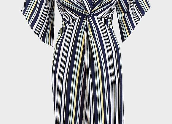 Ladies Multi Stripe Midi Dress