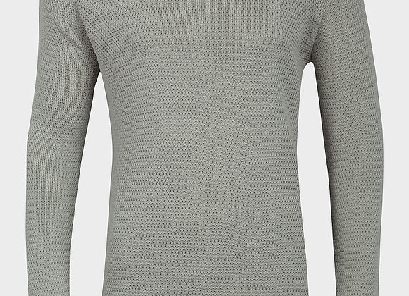 Mens Textured Knitted Jumper