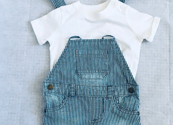 Dungarees & Top / 3-6 months