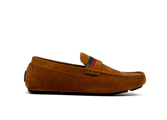 Dual Stripe Boy's Shoe Camel