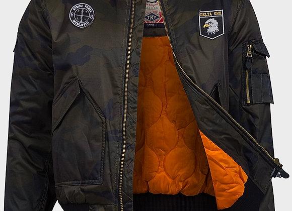Tokyo Laundry Men's Flyer Padded Camouflage Jacket