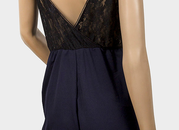 Ladies Lace Panel Playsuit