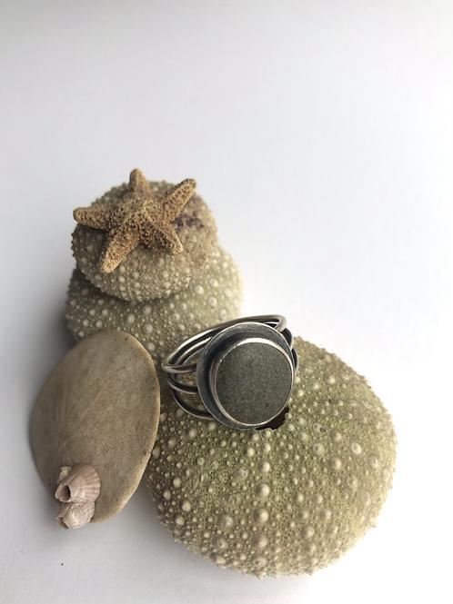 Beach Pebble Ring - Size 8
