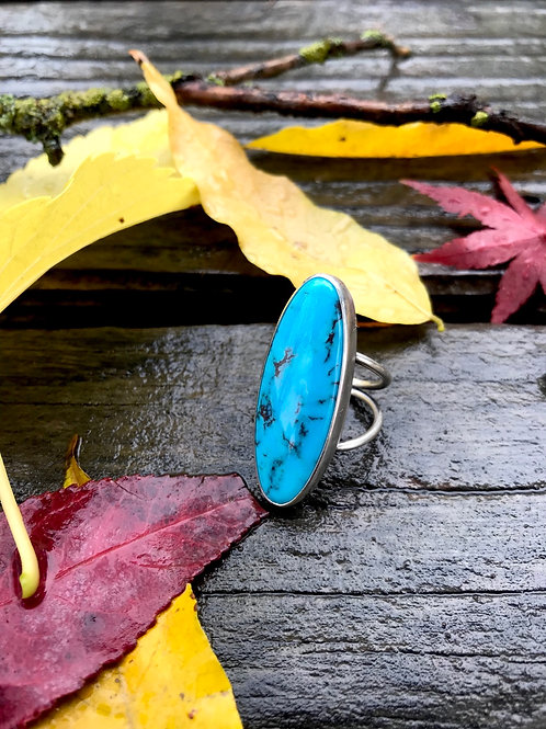 Turquoise Statement Ring - Size 4.75