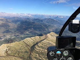 View of Requena from a Phoenix Helicopter