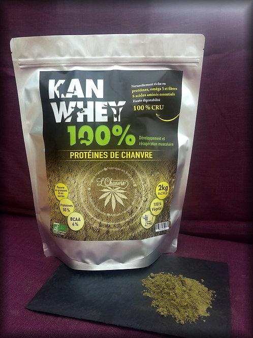 KAN WHEY – Protéines de chanvre biologiques L' Chanvre 2kg