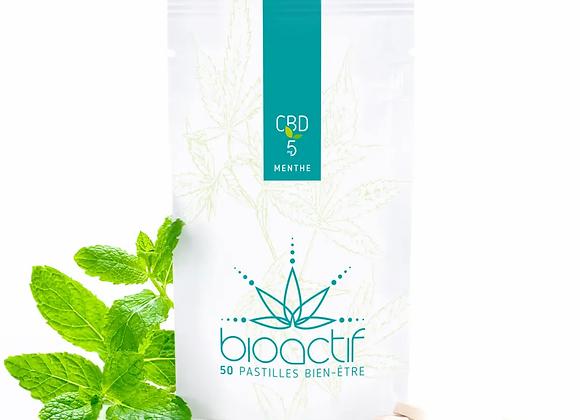 Pastilles CBD BioActif 5mg Menthe x50