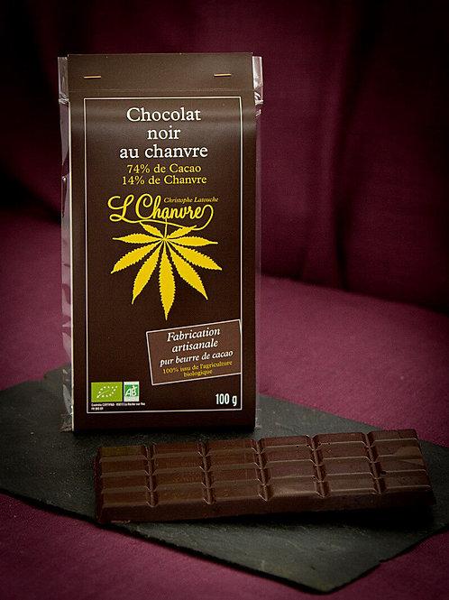 Chocolat noir artisanal au chanvre biologique L'Chanvre