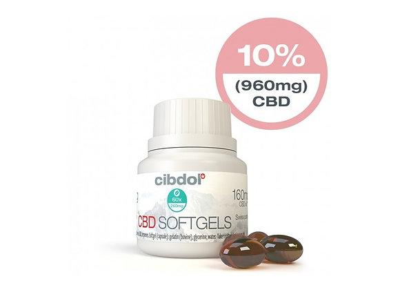 CBD Softgel Capsules CIBDOL 10% 60 Gélules (960mg)