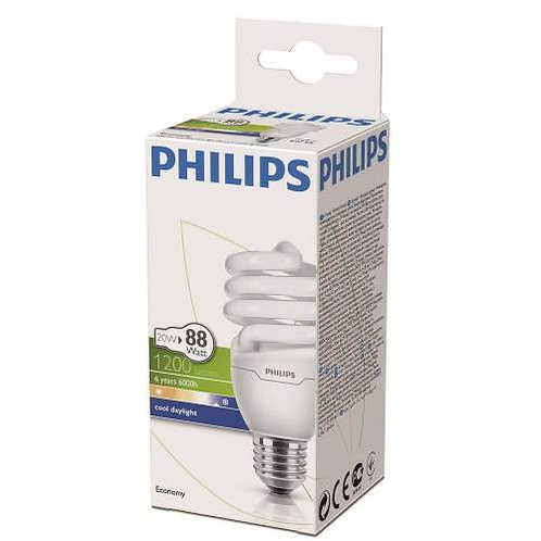 Philips Tasarruflu Twister 20W Beyaz Işık Normal Duy 12 Li Paket